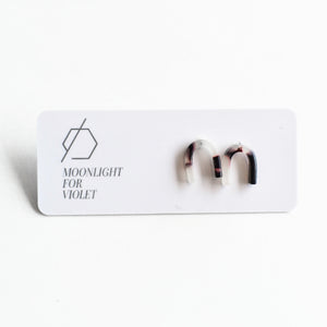 Moonlight for Violet - U-Shaped Stud Earrings