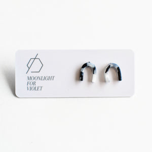 Moonlight for Violet U-Shaped Stud Earrings