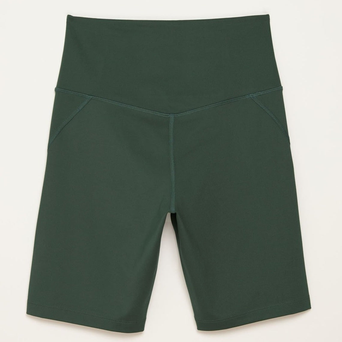 Girlfriend Collective The High Rise Bike Shorts Moss Back