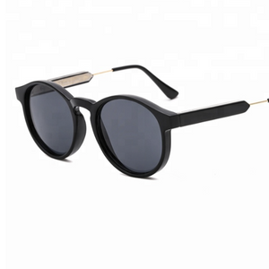 Hunter & Hare Sloan Round Frame Sunglasses Black