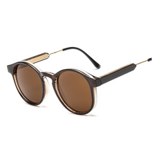 Hunter & Hare Sloan Round Frame Sunglasses Brown