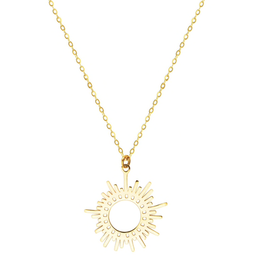 Sun Ray Gold Necklace
