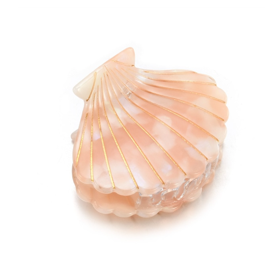 Iridescent Seashell Hair Clip