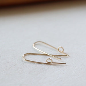 Souvenir Handmade Gold Loop Threaded Earrings Lifestyle