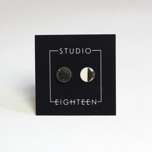 Studio Eighteen 50/50 Ceramic Circle Stud Earrings