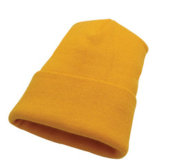 Hunter & Hare Canada Gold Acrylic Fine Knit Basic Toque