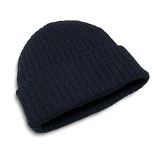 Hunter & Hare Canada Black Cotton Acrylic Ribbed Toque