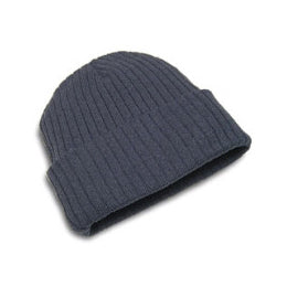 Hunter & Hare Canada Charcoal Cotton Acrylic Ribbed Toque