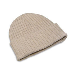 Hunter & Hare Canada Cotton Acrylic Cream Ribbed Toque