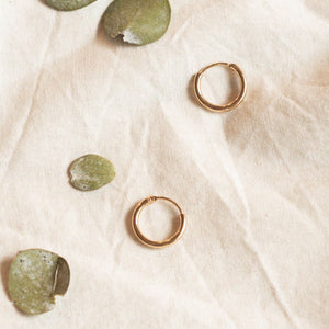 Hunter & Hare Gold Hoop Earrings Set Chunky Hoops