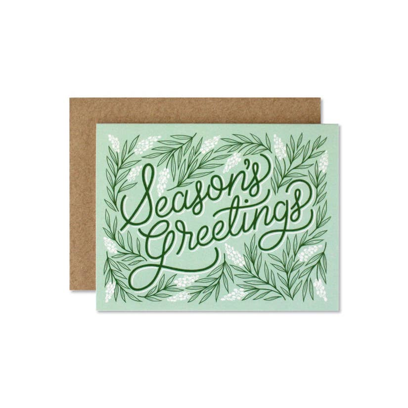 Wild Hart Paper Season's Greetings Holiday Card