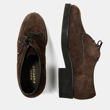 Hush Puppies - Brown Suede Oxford Shoes