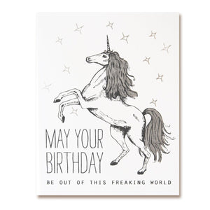 The Good Days Print Co Out of This World Unicorn Birthday Card