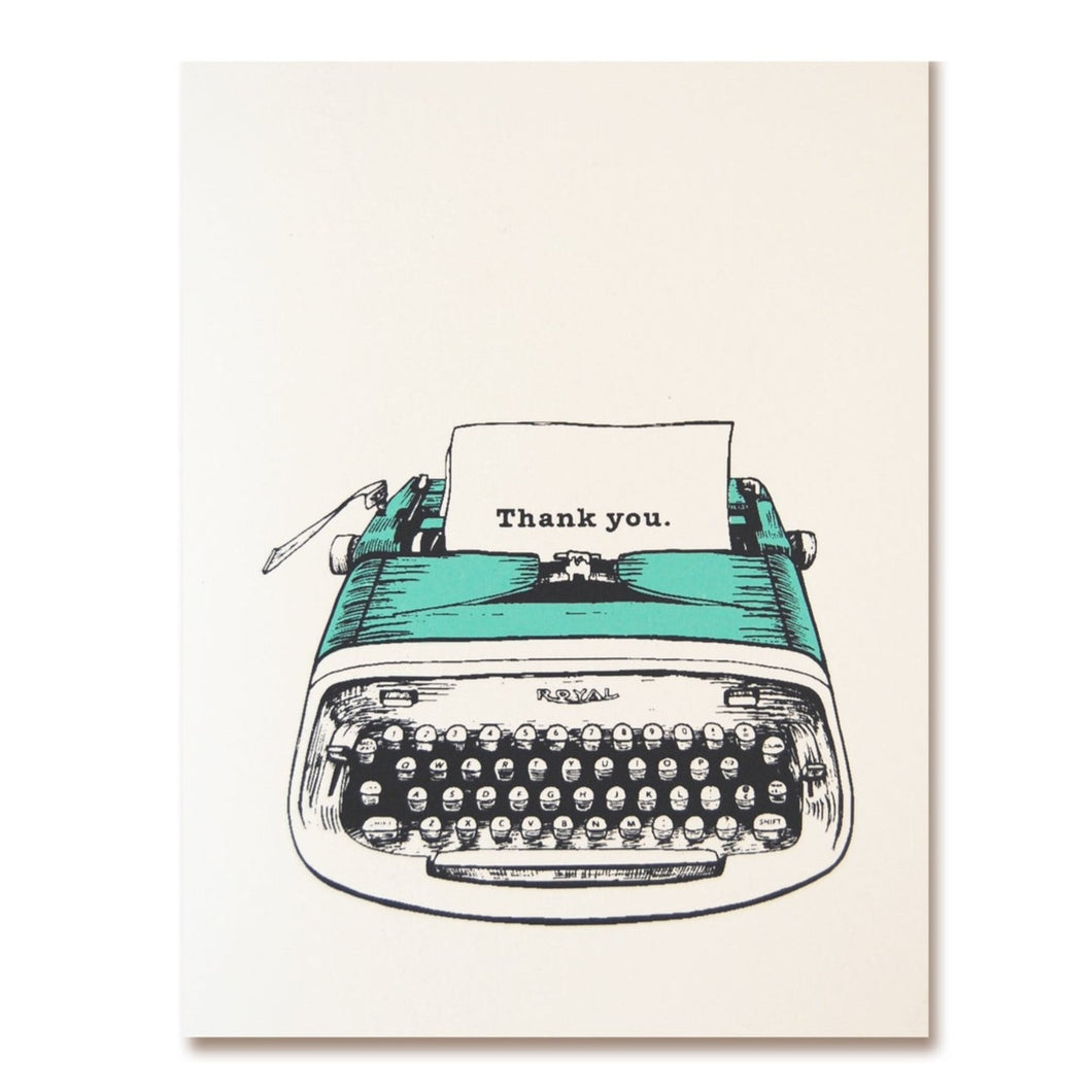 The Good Days Print Co. Typewriter Thank You Card