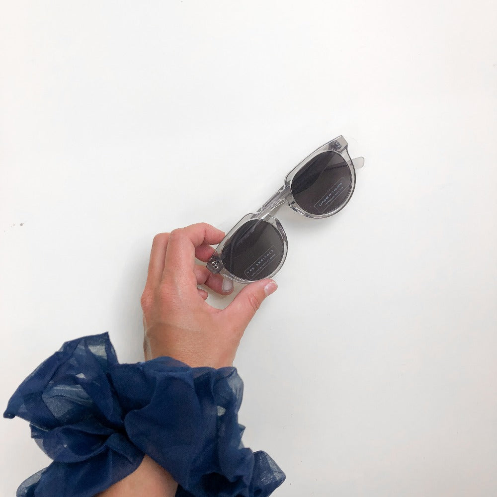 The Arrivals Zonne Clear Round Sunglasses Lifestyle