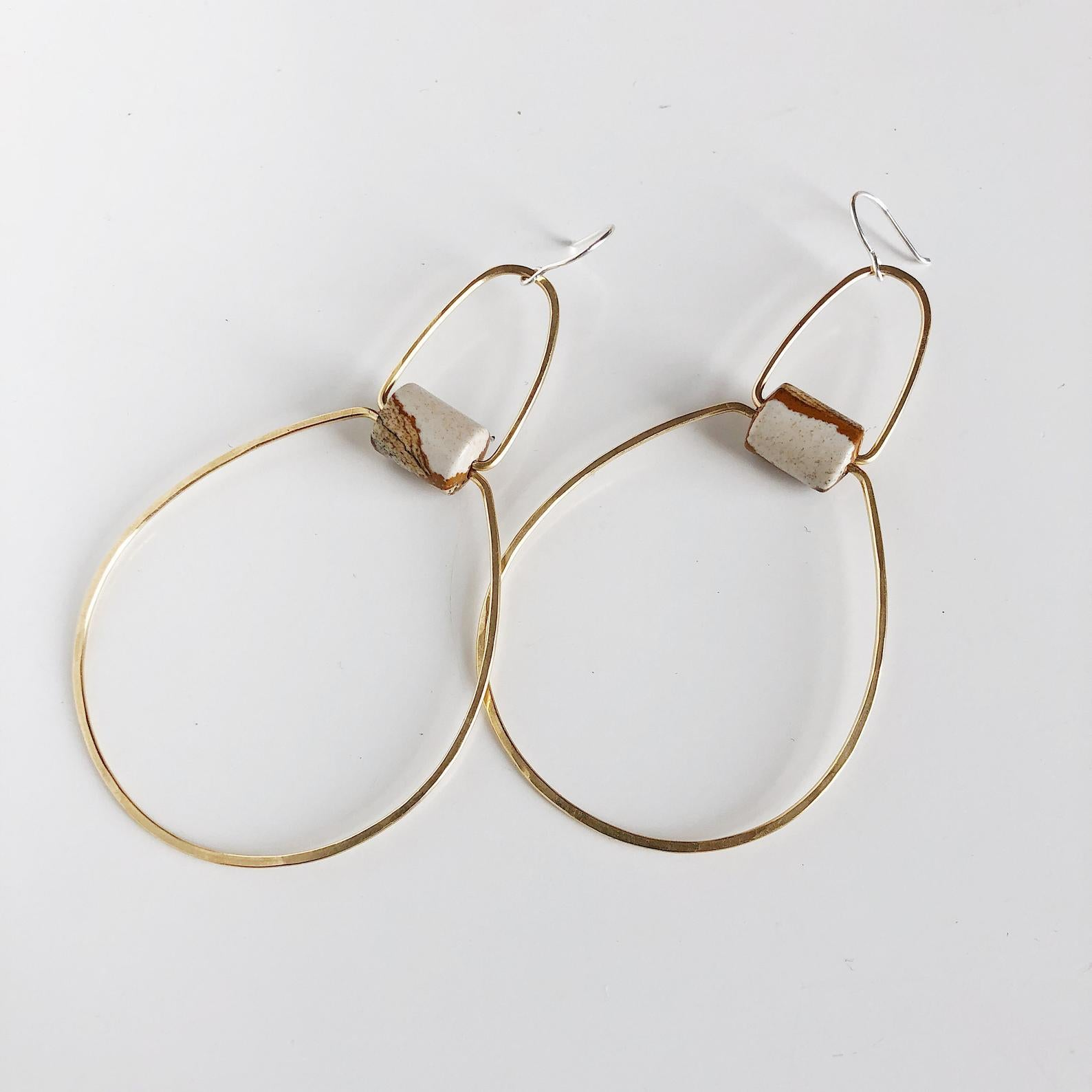Souvenir Handmade Unique Hand Hammered Hoop Earrings