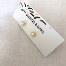 Pearl Gold Claw Studs