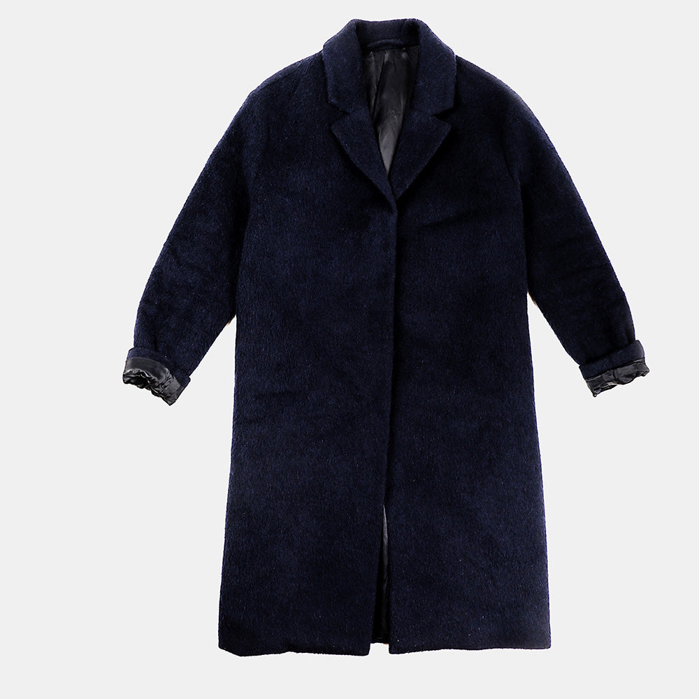 Stockholm Atelier - Navy Blue Wool Coat