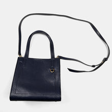 Banana Republic - Navy Blue Pebbled Leather Square Bag