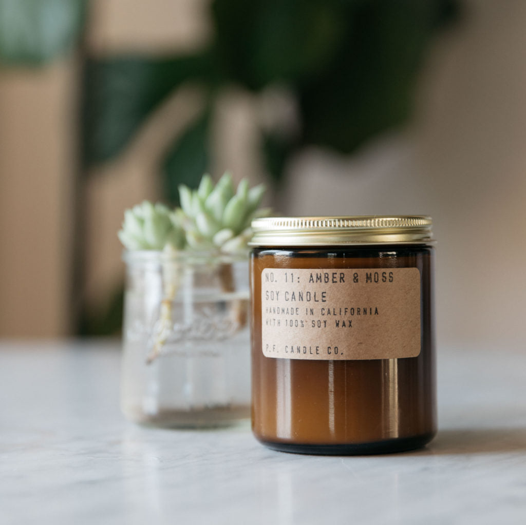 P.F. Candle Co. Amber & Moss Soy Candle