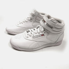 Reebok - White High Top Velcro Leather Sneakers