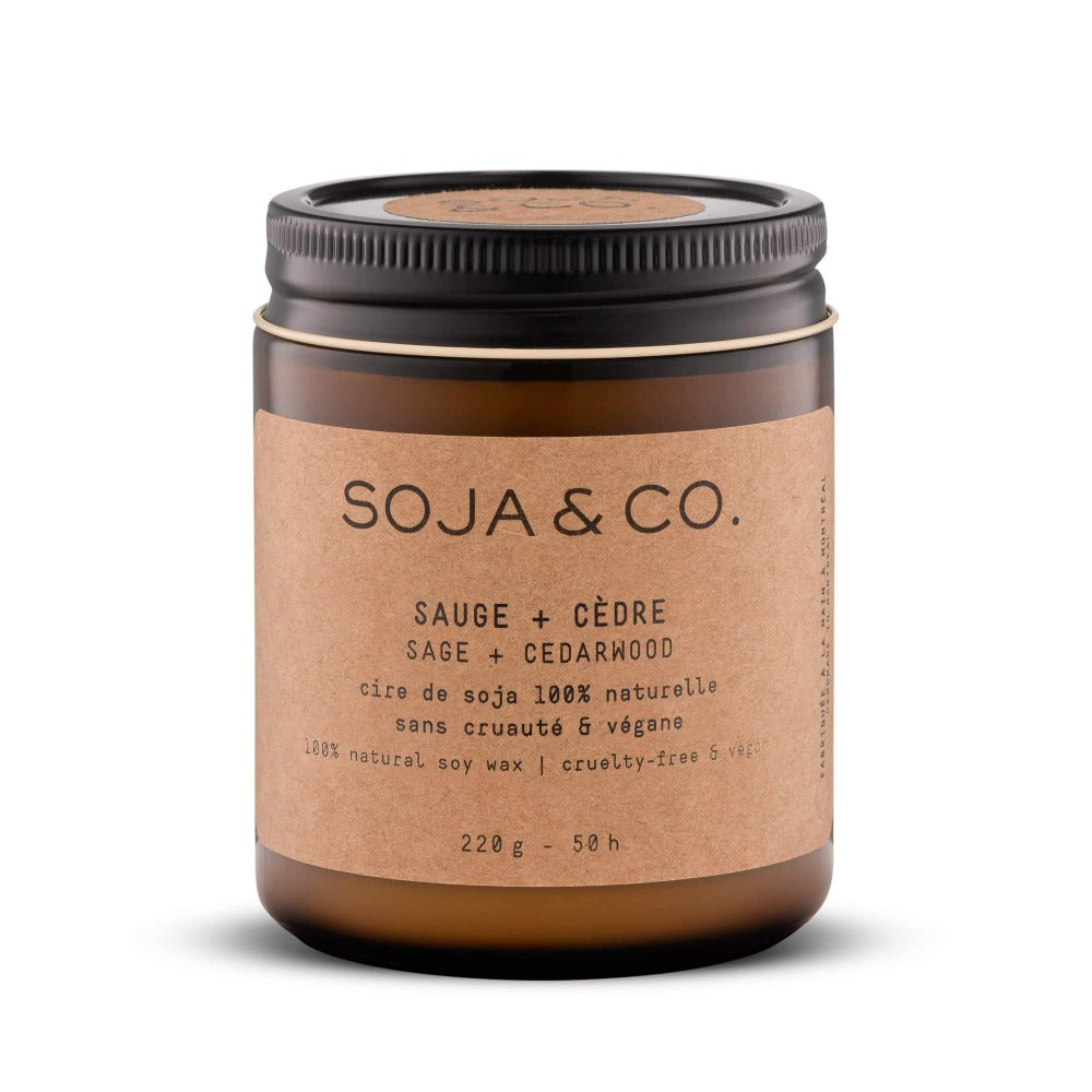 Soja & Co. Sage + Cedarwood Soy Candle