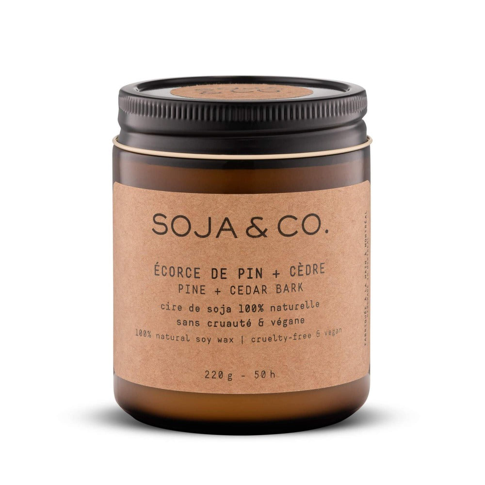 Soja & Co. Pine & Cedar Bark Soy Candle