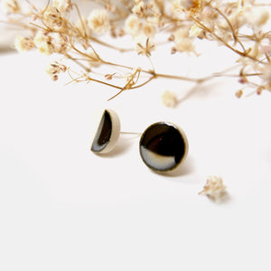 Studio Eighteen - 50/50 Ceramic Circle Stud Earrings