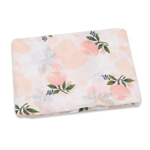 Adorable 100% Cotton Muslin Swaddle Blanket