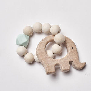 All Natural Wooden Teether // 4 Color Options