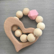 Load image into Gallery viewer, All Natural Wooden Teether // 4 Color Options