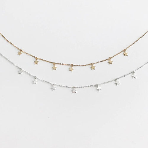 Boho Star Choker Necklace // Gold Or Silver