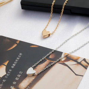 Elegant Small Heart Choker Necklace // Gold Or Silver