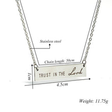 "Load image into Gallery viewer, Encouraging ""Trust In The Lord"" Necklace"