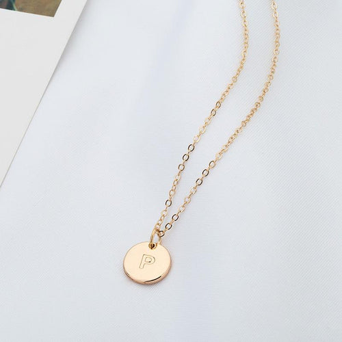 Personalized Disc Necklace // Gold, Rose Gold & Silver