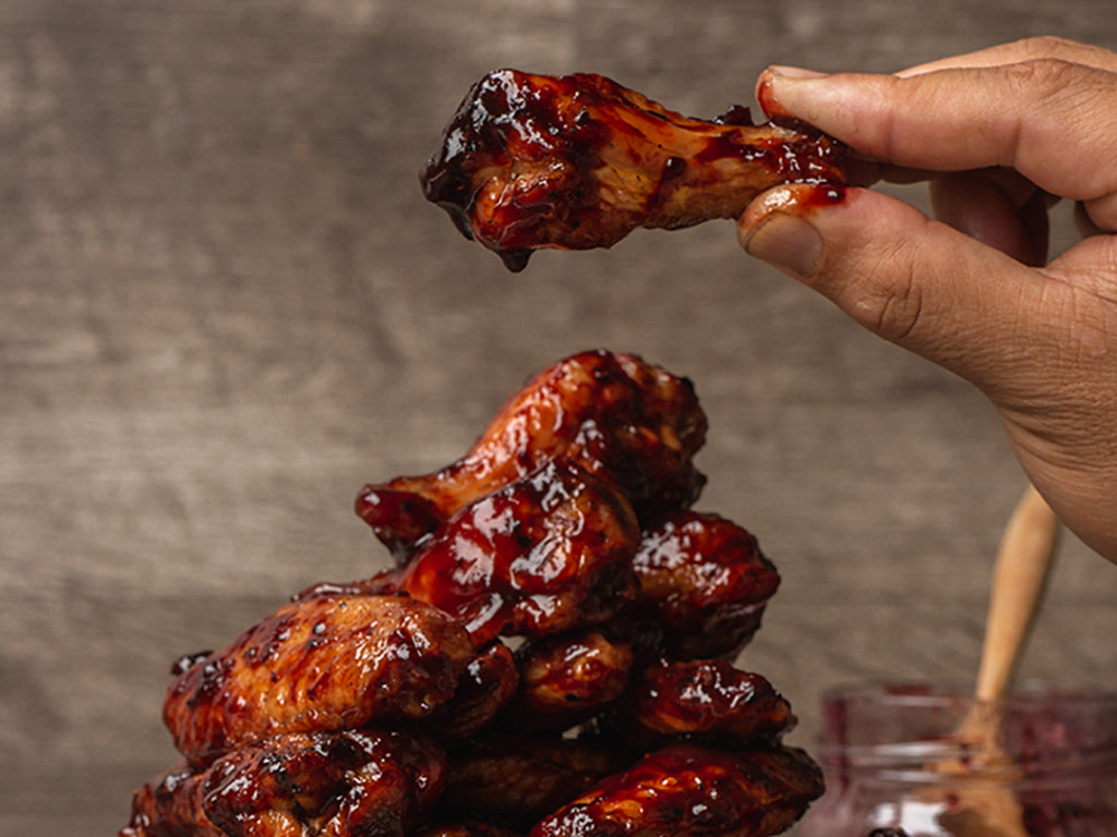 Marionberry Habanero Chicken Wings