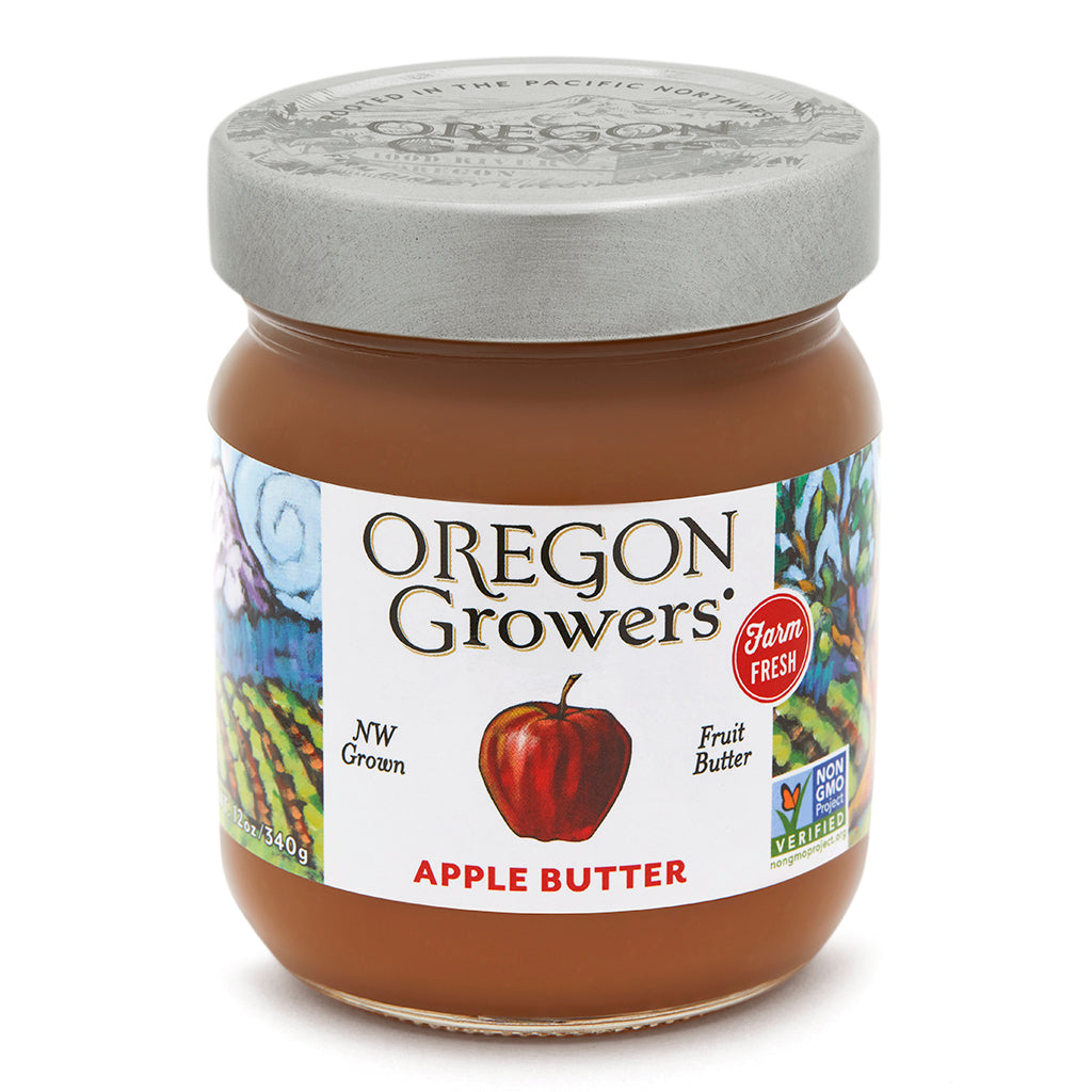 Not Too Sweet Apple Butter jar, Oregon Growers