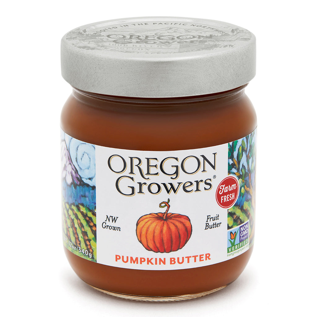 Pumpkin Butter jar, Oregon Growers
