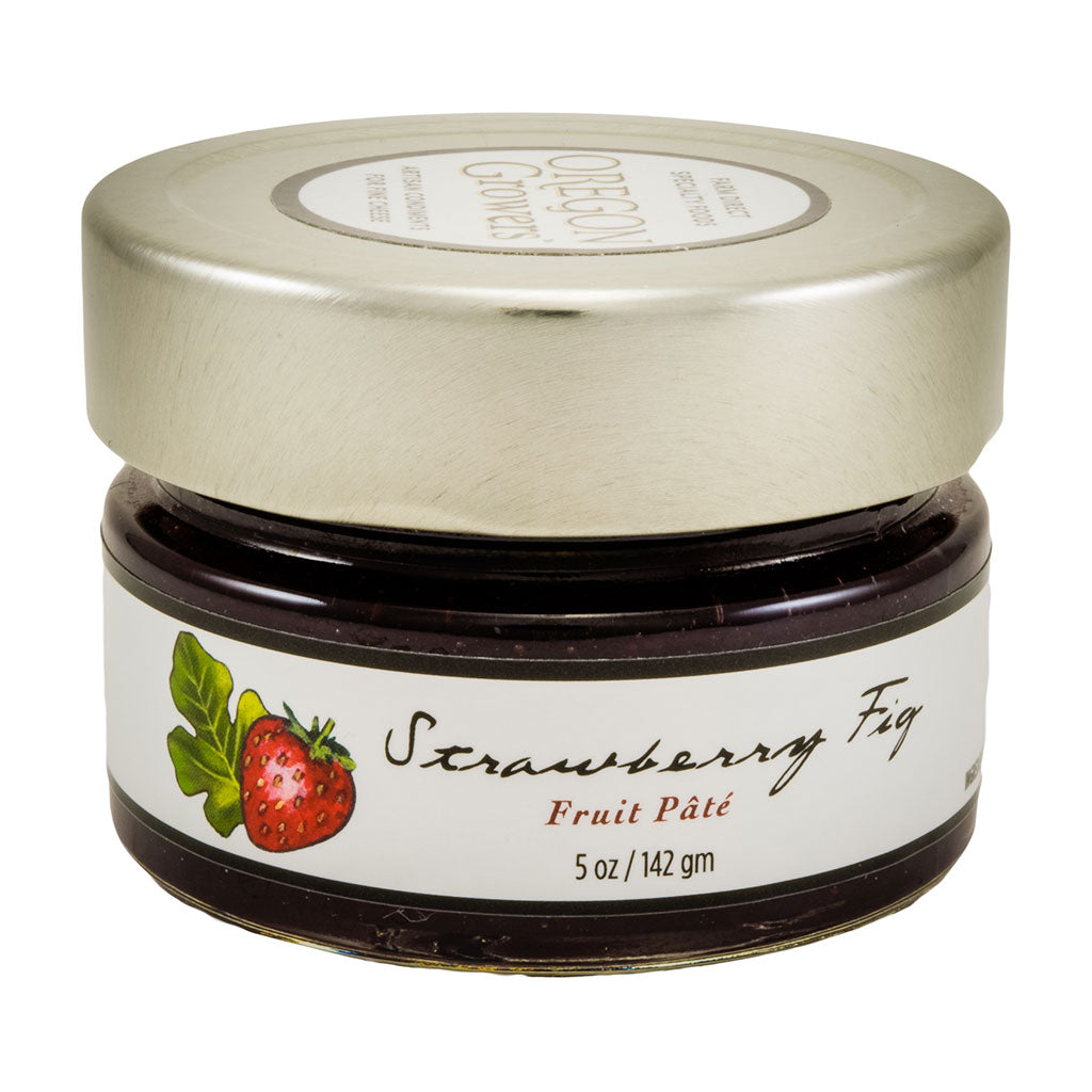 Strawberry Fig Fruit Pate jar, Oregon Growers
