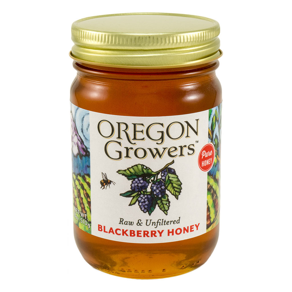 Wild Blackberry Honey jar, Oregon Growers