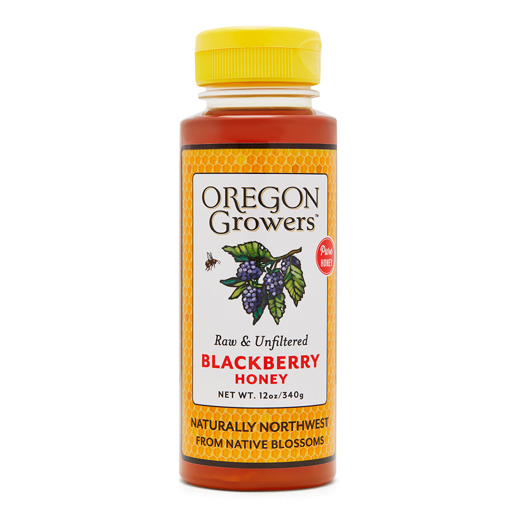 Blackberry Honey squeezable bottle, Oregon Growers