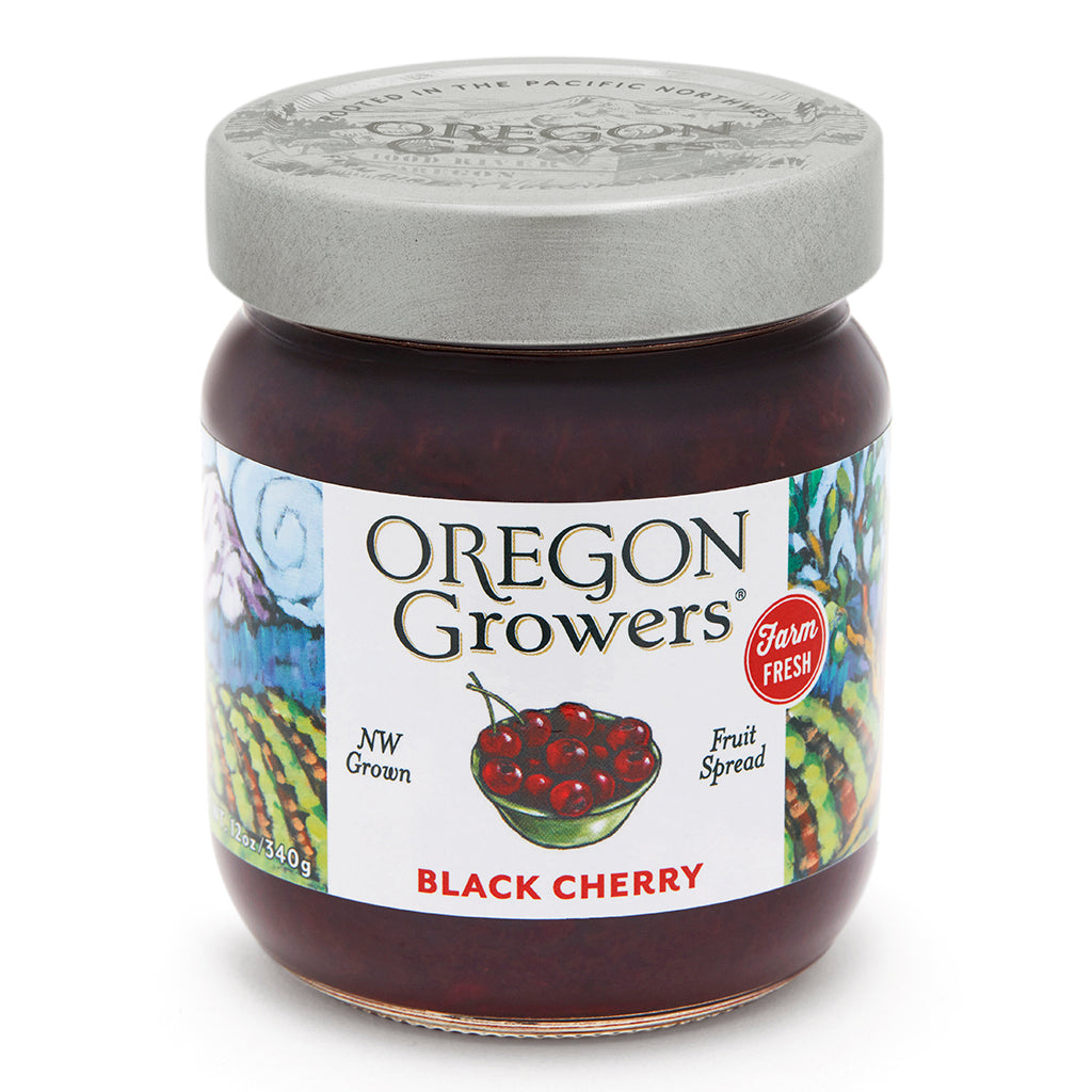 Black Cherry Jam jar, Oregon Growers