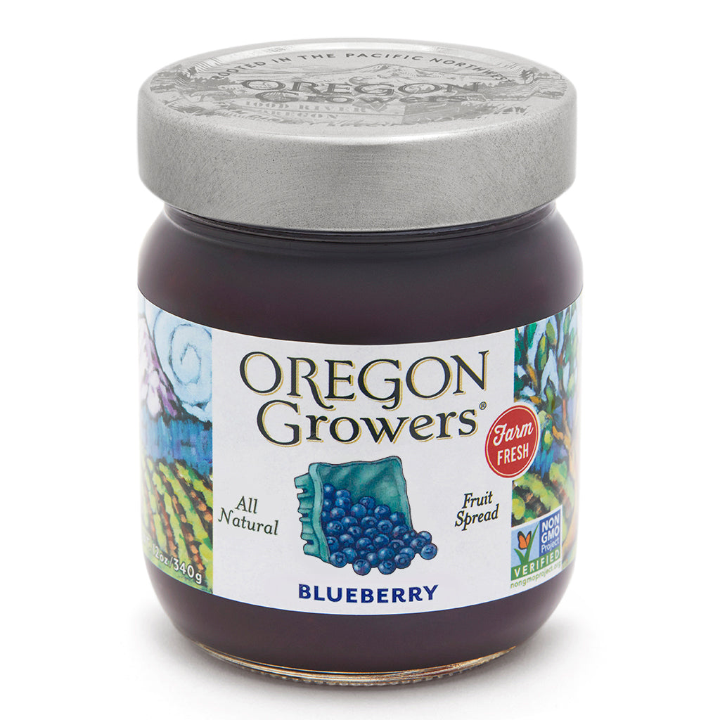 Blueberry Jam jar, Oregon Growers