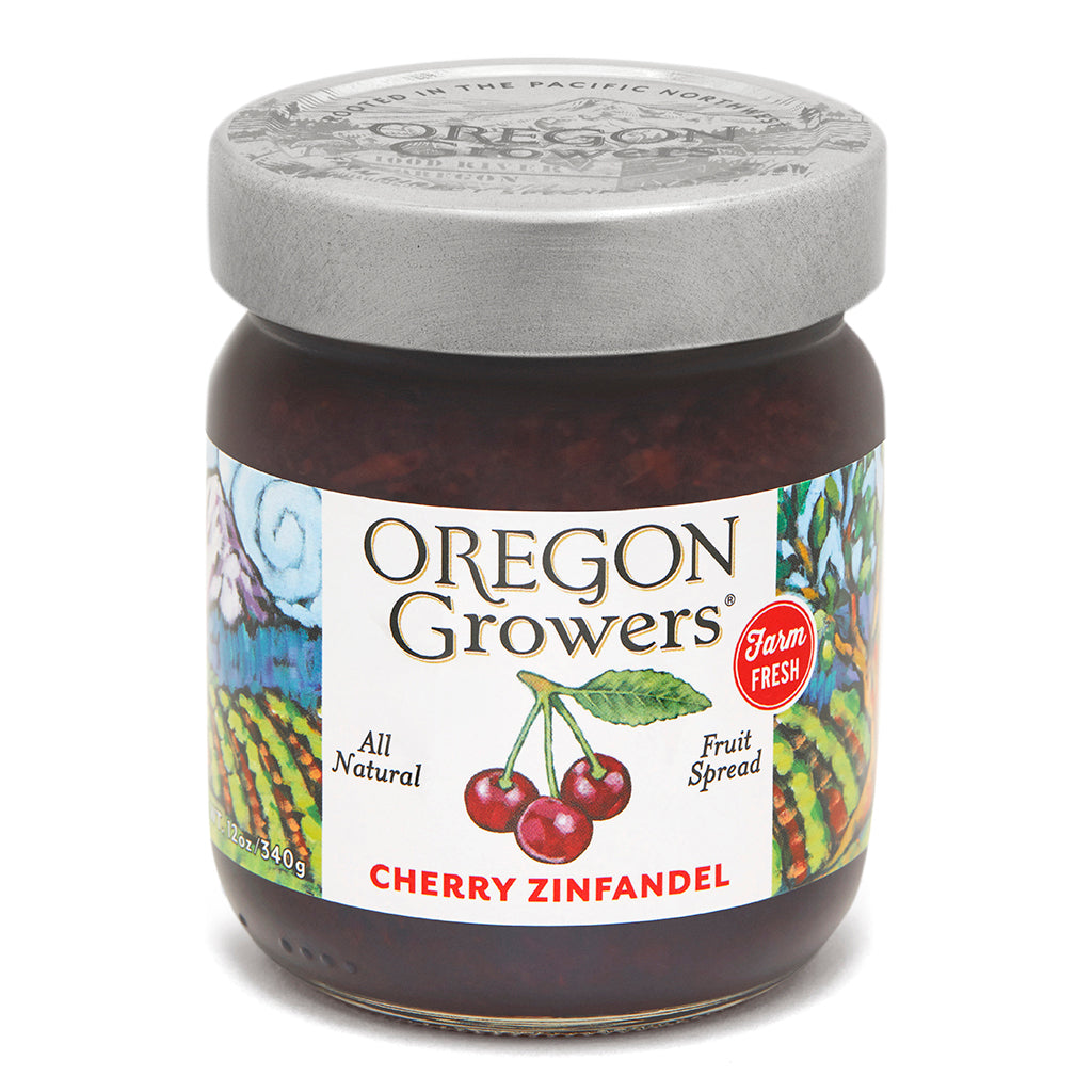 Cherry Zinfandel Jam jar, Oregon Growers