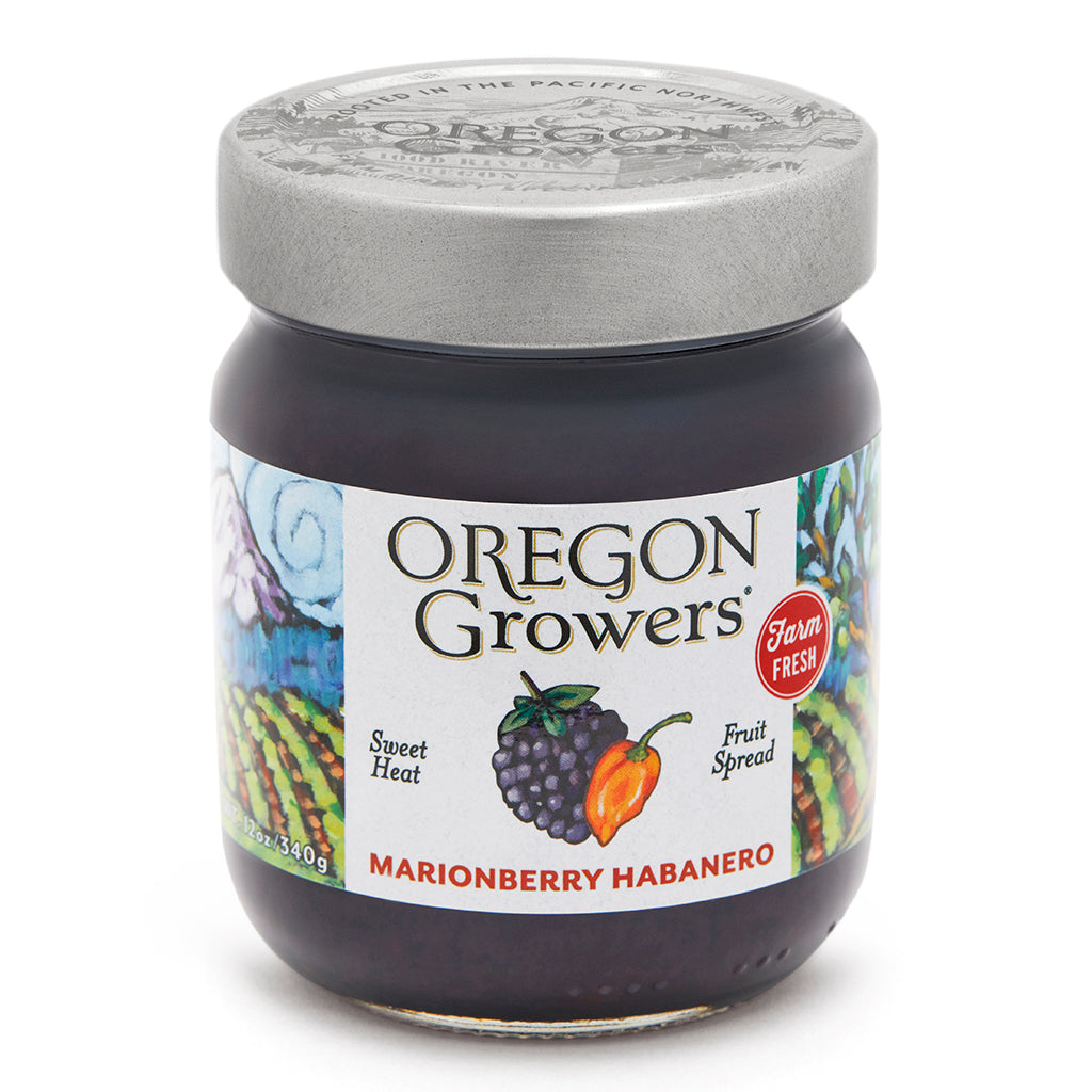Marionberry Habenero Jam jar, Oregon Growers