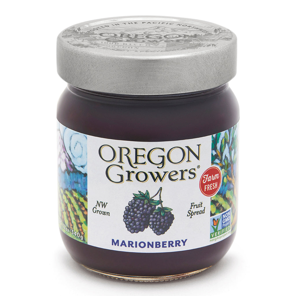 Marionberry Jam jar, Oregon Growers