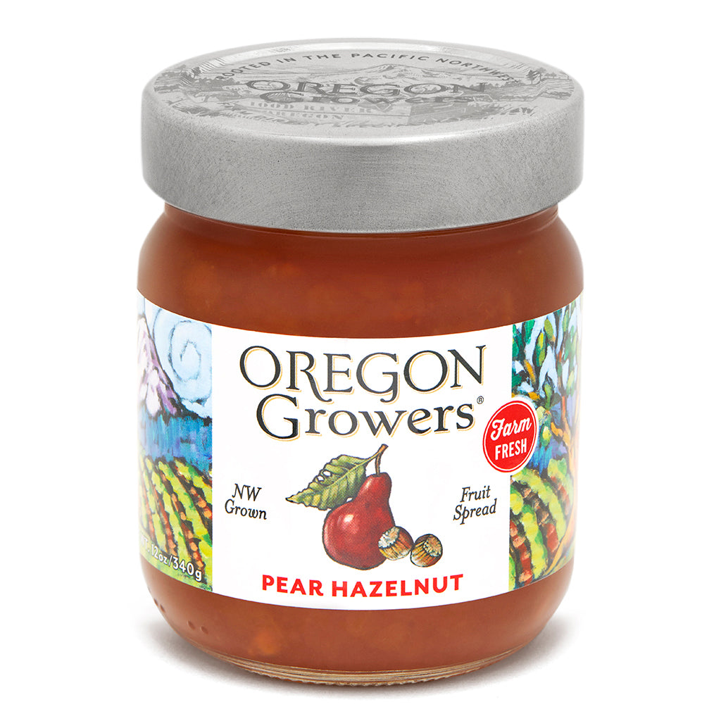 Pear & Hazelnut Jam jar, Oregon Growers