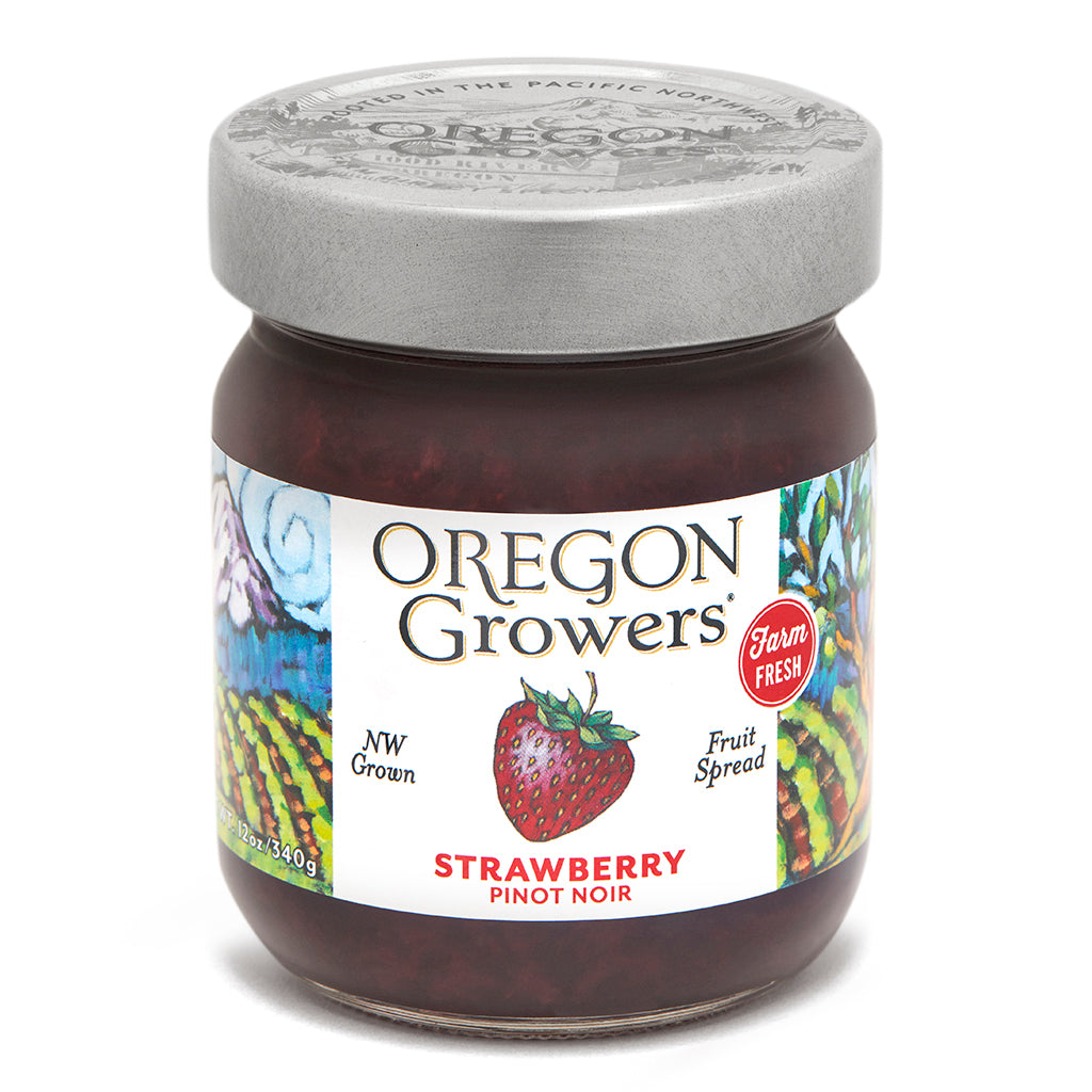 Strawberry Pinot Noir Jam jar, Oregon Growers