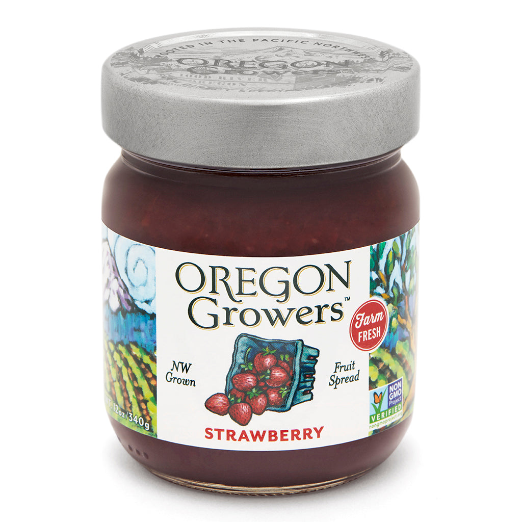 Strawberry Jam jar, Oregon Growers