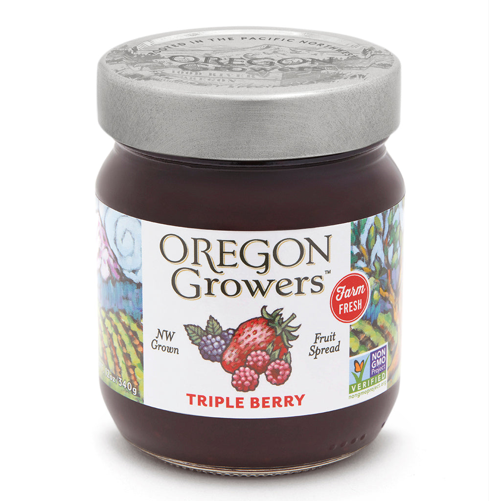 Triple Berry Jam jar, Oregon Growers